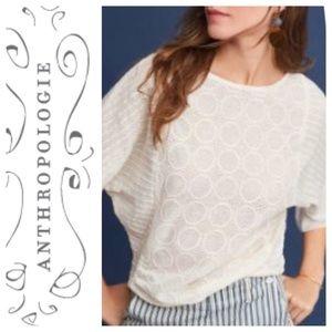 NWT:White Akemi + Kin Ruffled Sleeve, Ivory Size L